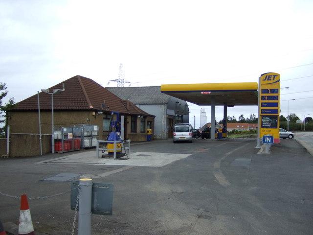 Service station on Edinburgh Road