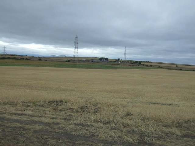 Farmland and pylons