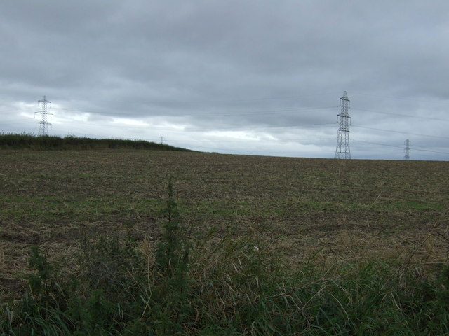 Farmland north of Elphinstone