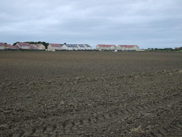 Ploughed field towards Tranent