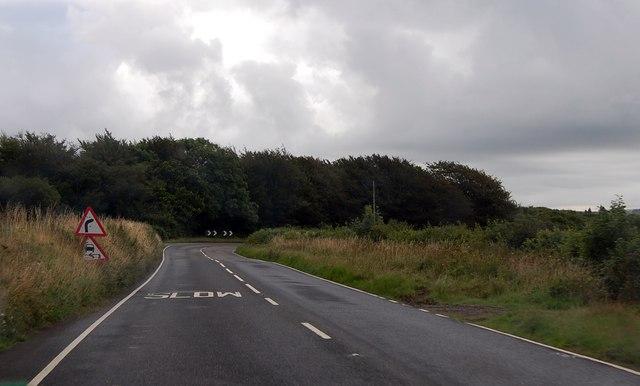 A3079 bend ahead