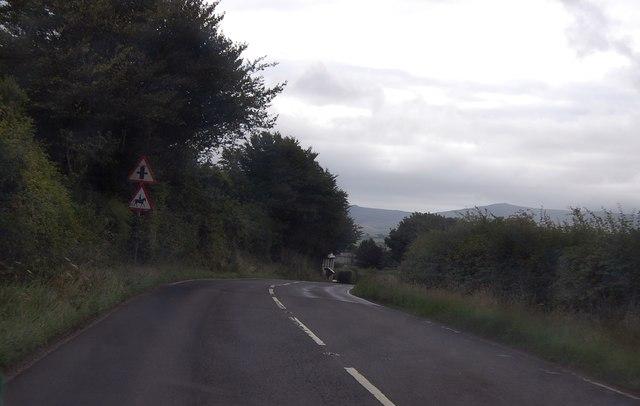 A3079 approaching crossroads