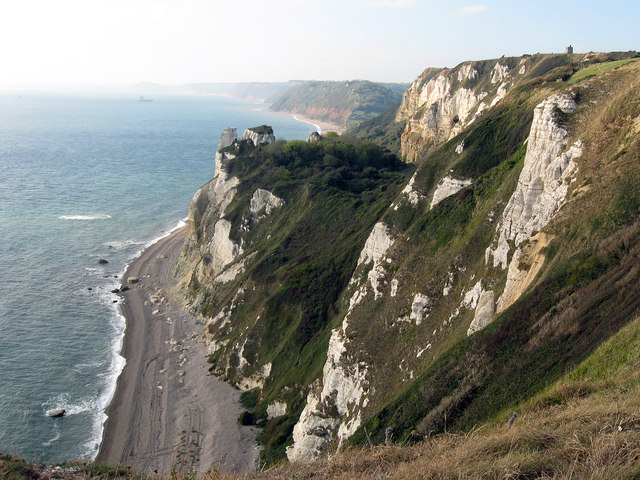 Branscombe Cliffs from the south west coastal path