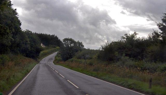 A3079 near Halwill Moor Plantation