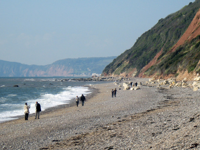 Branscombe Beach looking west