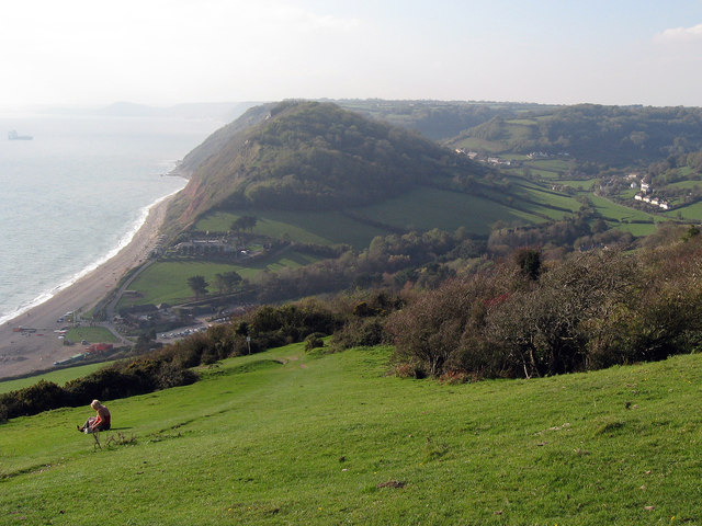 Branscombe from the cliff top