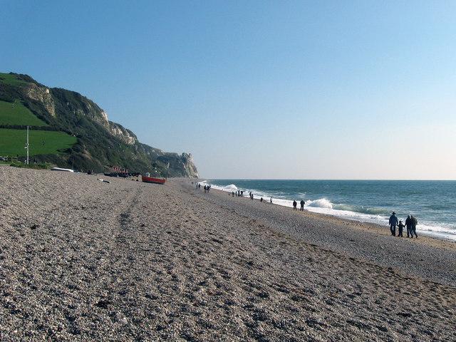 Branscombe Beach looking east