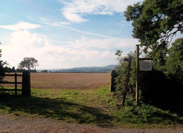 Entrance to Little Headlow Fields