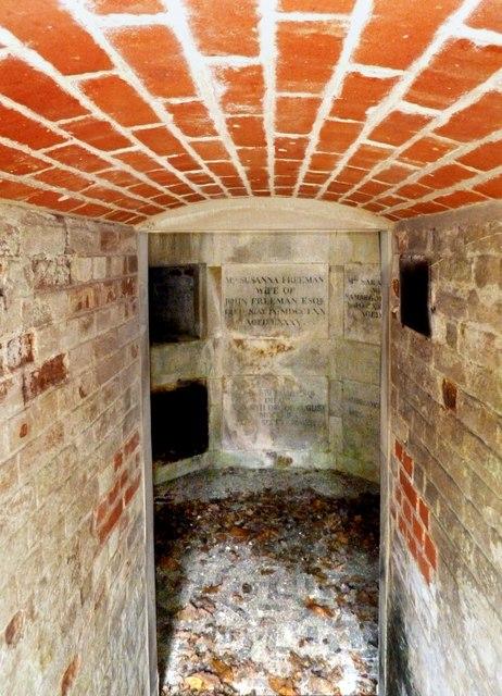 Inside the Freeman Mausoleum