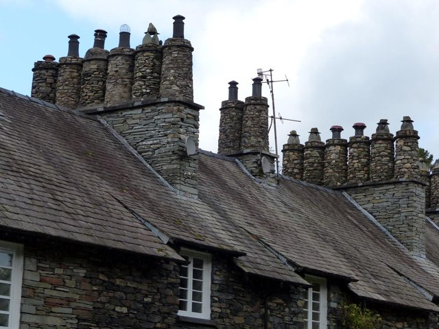 Ornate chimney pots
