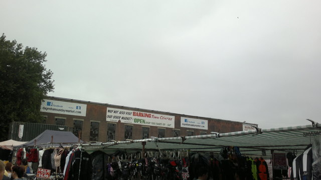 View of the Dagenham Market building from the market itself #2