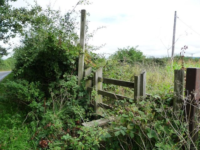 Brambly stile, south-east side, Pentre-Waun road