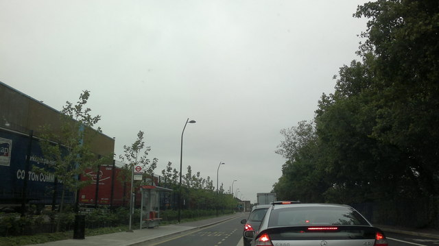 Stuck in traffic for the lights at the A13 and Movers Lane junction