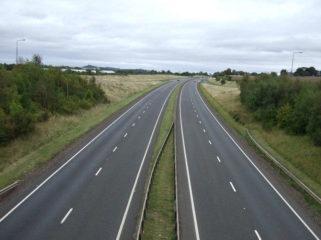 A1 eastbound near Gladsmuir