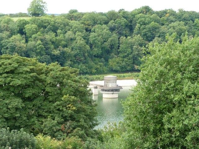 Llandegfedd Reservoir's valve tower
