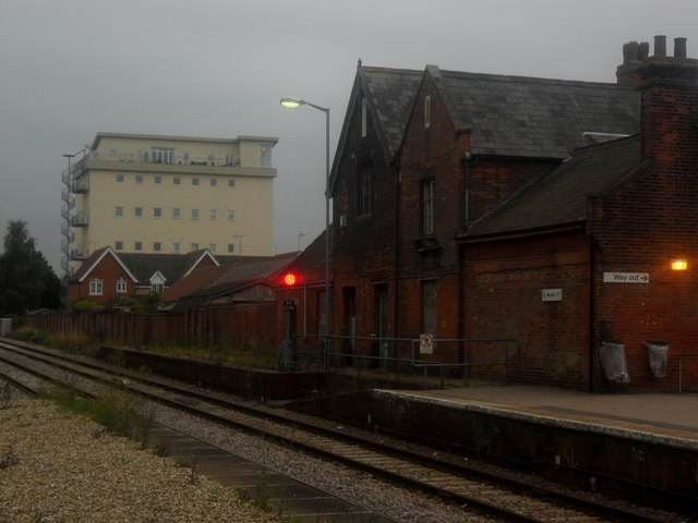 Disused station buildings at Beccles