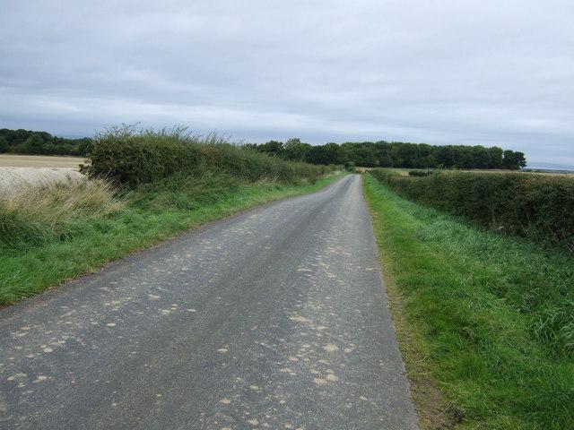 Minor road heading north