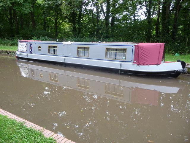 Narrowboat on the Mon. & Brec. at Gilwern Wharf