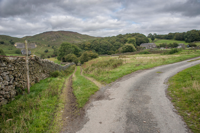 Path and Lane Junction near Hawes