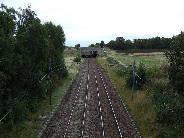 East Coast Main Line near Spittal