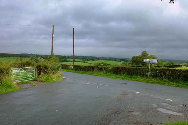 Road Junction at Little Plantation