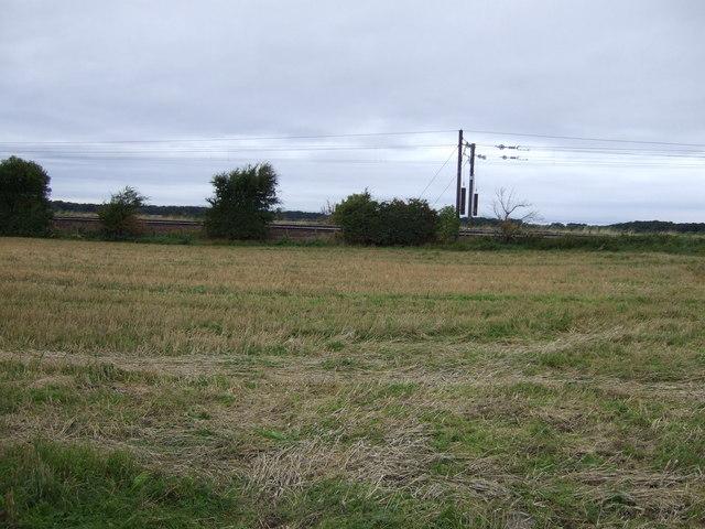Farmland near the East Coast Main Line