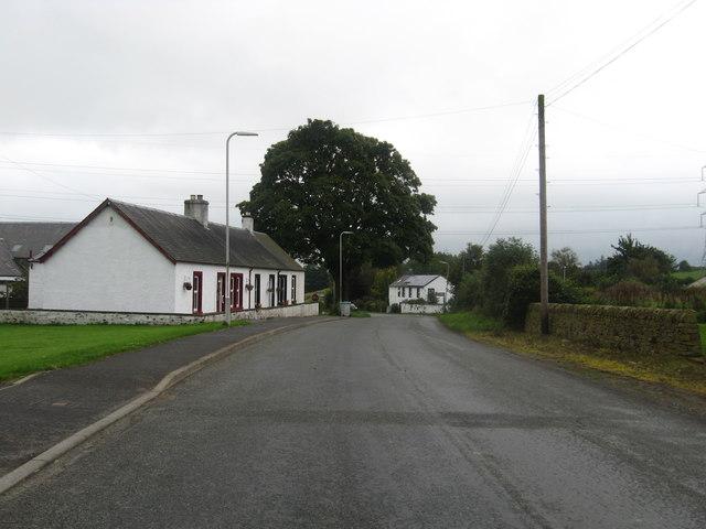 The road passing through Chapelknowe