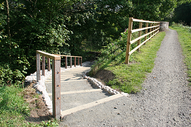 Steps down from the Towpath