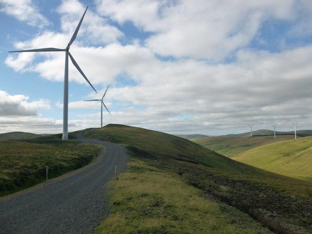 Wind turbines on Bank