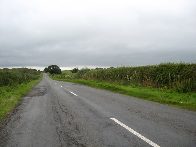 The B6357 heading south-west