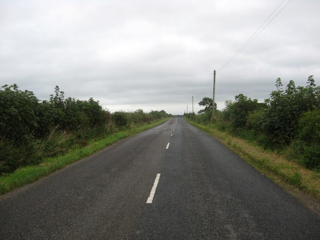 Looking back on the B6357 road