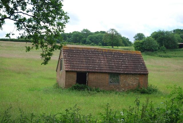 Building in a field