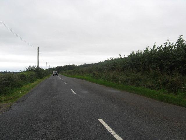 The B6357 heading towards Annan
