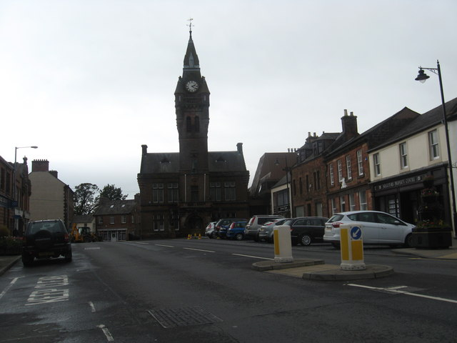 The scene at Annan, a popular town in Dumfries in Dumfries and Galloway