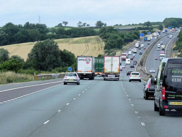 M6 near Cosford