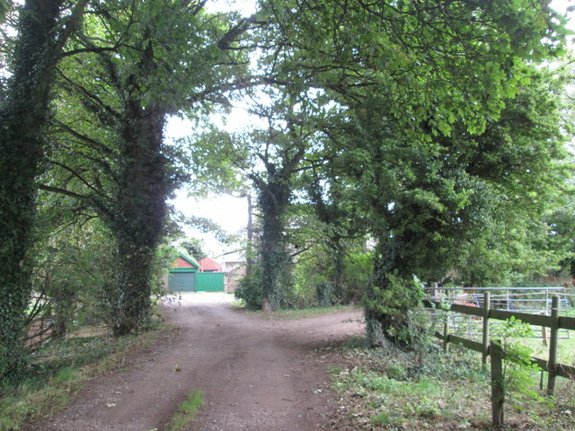 Entrance to The Manor, west of Upton