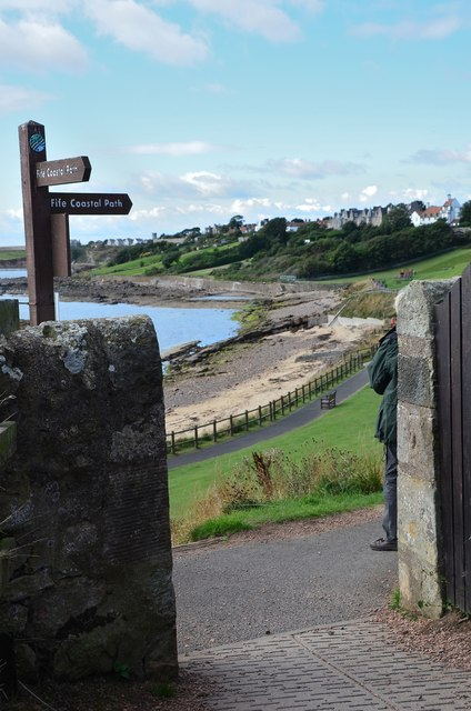 Fife Coastal Path at Roome Bay, Crail
