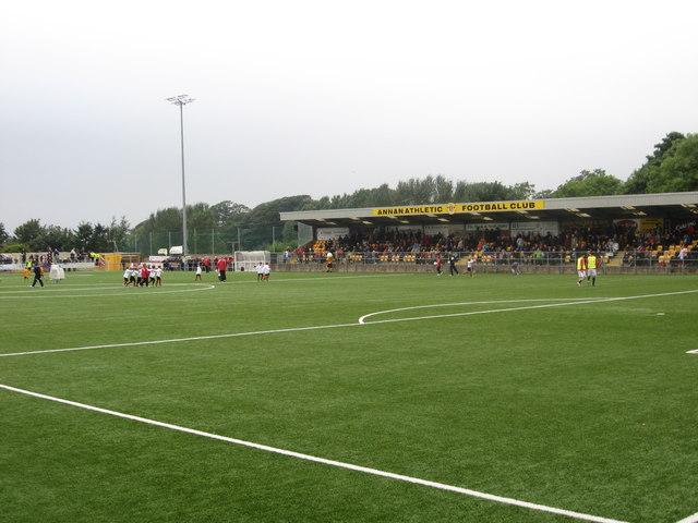 Galabank Stadium, home of Annan Athletic Football Club