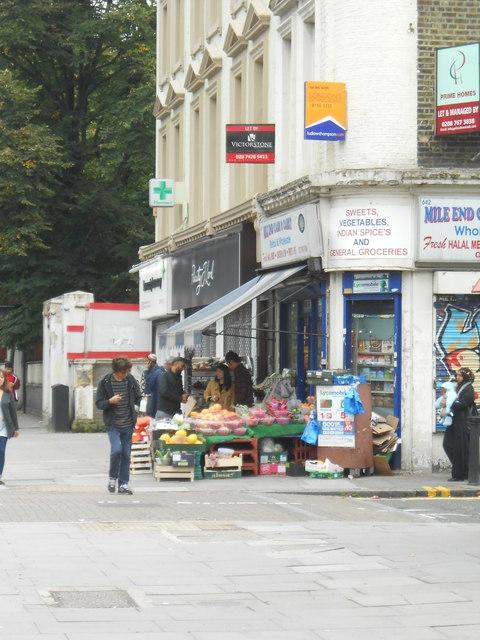 Shop on the corner of Brokesley Street