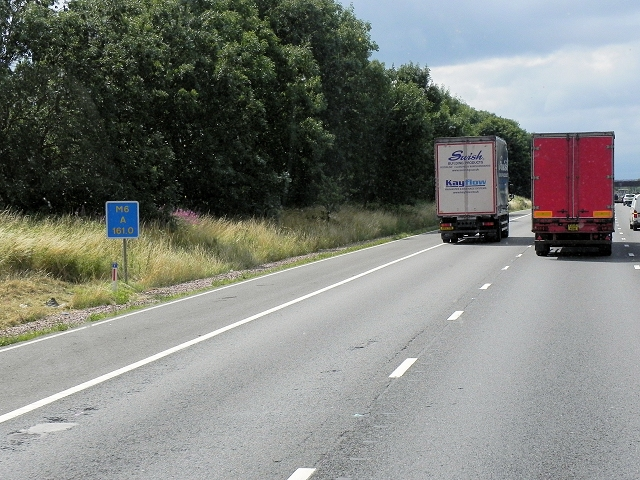 Northbound M6, Corley