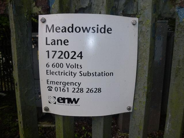 Substation nameplate