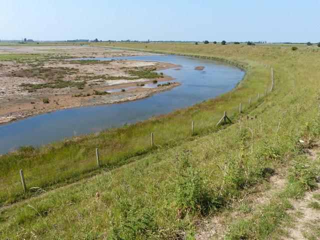 Wetland at the RSPB Frampton Marsh nature reserve