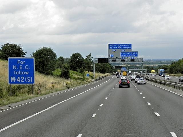 Northbound M6