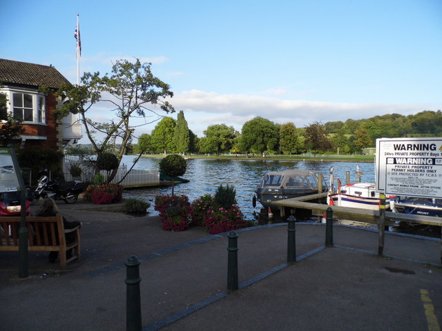 Looking across the River Thames at Henley