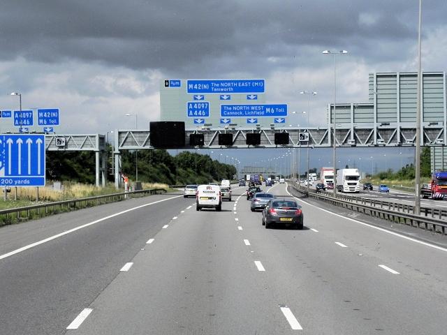 M42/M6 Toll, Coleshill Interchange
