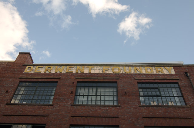 Old factory sign, Mary Ann Street, Birmingham