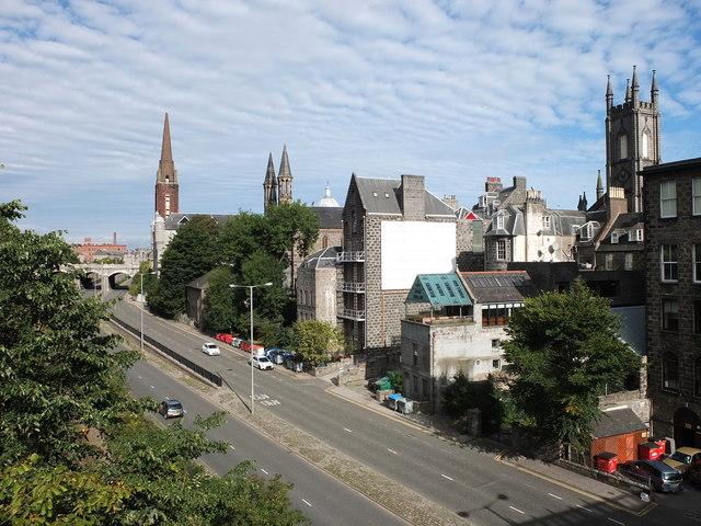 Denburn Road, Aberdeen (the view from Union Street bridge)