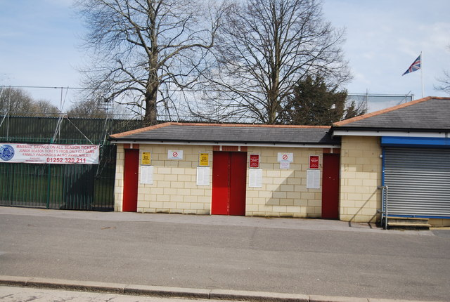 Entrances, Aldershot Football Ground