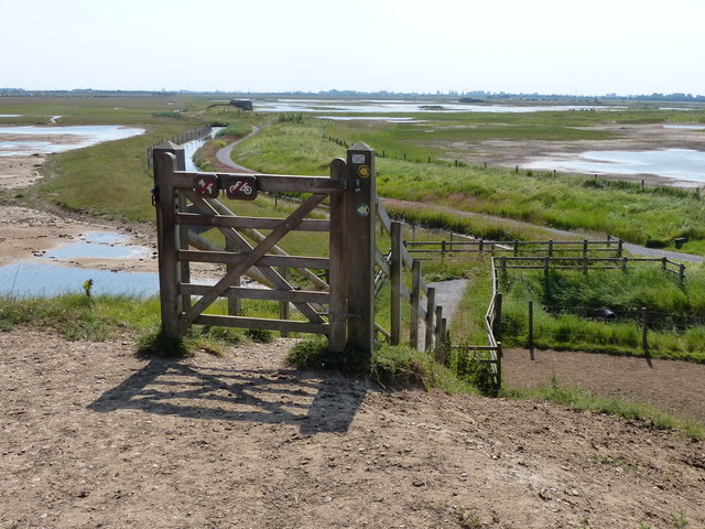 Gate and footpath leading to Frampton Marsh
