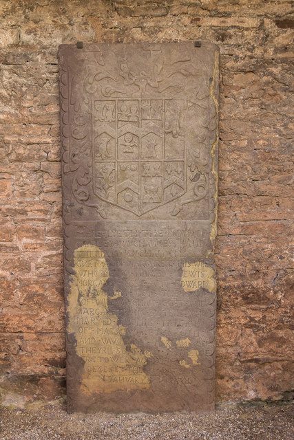 Stone with Coat of Arms, Tretower Court, Wales
